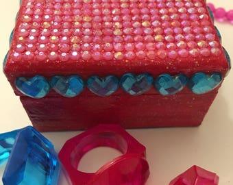 Blue Heart Trinket Box