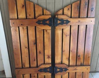Custom Cedar Wood Shutters