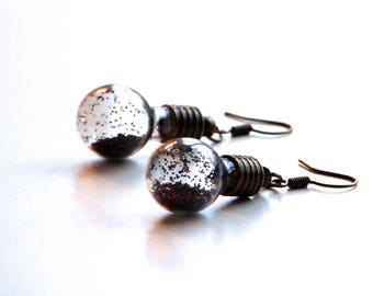 Earrings original bulbs in bronze