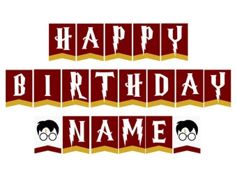 DIGITAL Harry Potter Birthday Banner