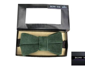 Bow tie gamuza verde