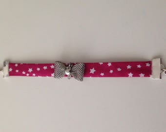 Girl fabric Liberty Star and bow bracelet