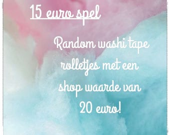 15 euro spel - Surprise washi tape listing