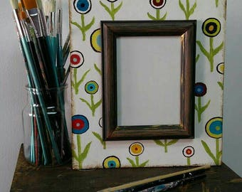 Handmade picture frame. Spring in the soul :)