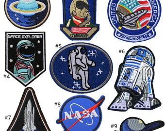 NASA Patch,Astronaut Patch,Spacecraft Patch,Planet Patch,Airforce Patch,iron on Patch set, embroidery patch,space patch,patches