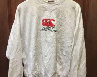 Vintage Canterbury of New Zealand Rugby Sweatshirt Large Size