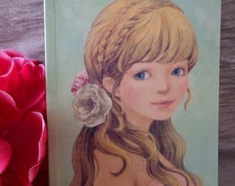Pastel notebook girl