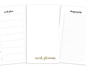 Personal Meal Planner Printable Insert - TN / Ring Planner - Plain Cover