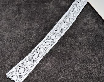 3 meters lace white 15mm