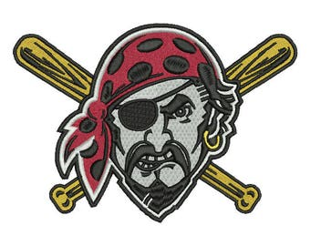 Pittsburgh Pirates Embroidery Design #2 - 5 SIZES