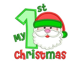 My 1st Christmas Applique Design - 5 SIZES