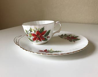 Royal Adderley Christmas Plate and Cup set
