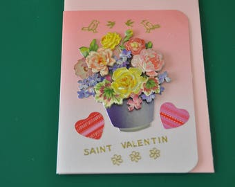 Map of St. Valentine's day Bouquet in a vase