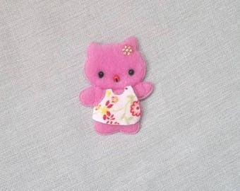 Pink Teddy bear for scrapbooking, 40mm X 50 mm