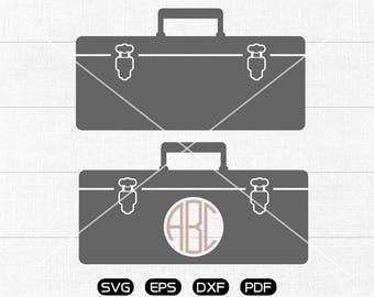 Toolbox Svg, Toolbox Clipart, Monogram Frame cricut, cameo, silhouette cut files commercial & personal use