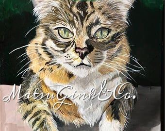 Custom pet portrait, custom pet painting, custom cat painting, custom cat portrait, pet portrait custom, pet painting custom, cat painting