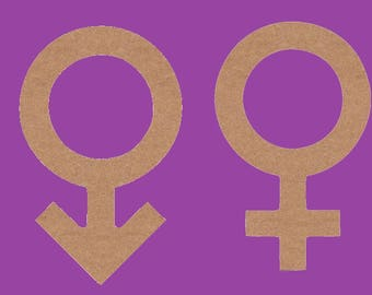 stand to decorate medium MDF, male and female symbol