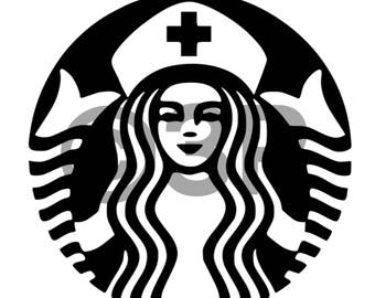 Nurse Starbucks Cup Laptop Decal