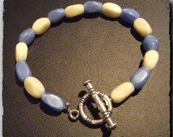 Bracelet beads blue & white spirit 4 sizes to choose from