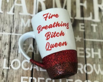 Throne of Glass, Aelin, Sarah J Maas, Bookish, Best friend mug, friend mug, handmade mug, coffee lover, glitter mug