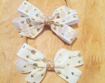 Arrows or Pineapple Nylon Headbands