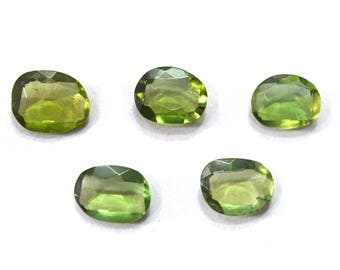 Apatite Natural Green Apatite Rose Cut Polki Both Side Faceted 8.45 Cts. 5 Pieces For Designer Jewelry - 4013