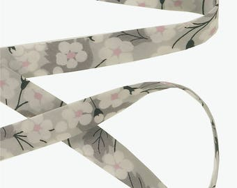 True bias Liberty Mitsi X gray x 50 cm Ribbon Tana Lawn for bracelets, sewing...
