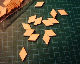 Small diamond ba013 embellishment wooden creations