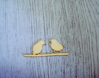 2 birds 1333 embellishment wooden creations