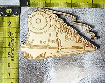 Train 336 embellishment wooden creations