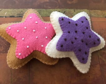Felt Star Cookies - Star Cookie Set - Felt Cookies