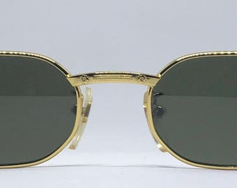 Rolling 704 / Vintage Sunglasses / Brand New / Unworn / Made In Italy / Gold Sunglasses