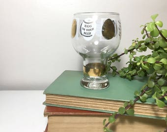 Vintage Federal Glass 'Egg in Your Beer' Cup