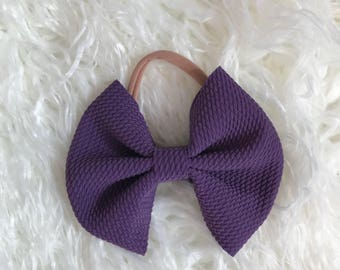 Dark purple skinny bow