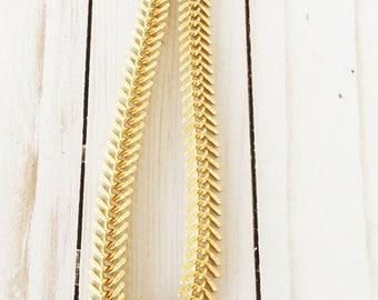 Fishbone Choker | Gold Choker