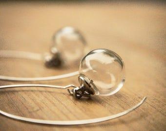 Bubble Earrings, Glass Bubble Earrings, Glass Ball Earrings, Minimalist Earrings, Clear Bubble Earrings, Bridesmaid Gift, Bridal Earrings