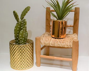 Miniature wicker chair, succulent plant stand, toy chair, doll chair, vintage wicker chair, planter, wicker plant stand