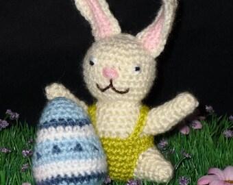 Crocheted white Easter Bunny