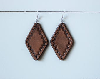 Natural Collection Denise Earrings | Leather Earrings | Birthday Gift | Anniversary | Gifts under 25 | Handmade | Gifts for Her