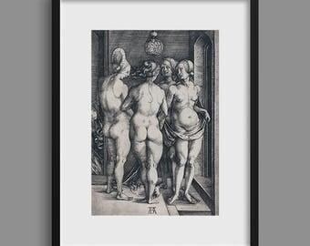 Four Naked Women - Albrecht Dürer