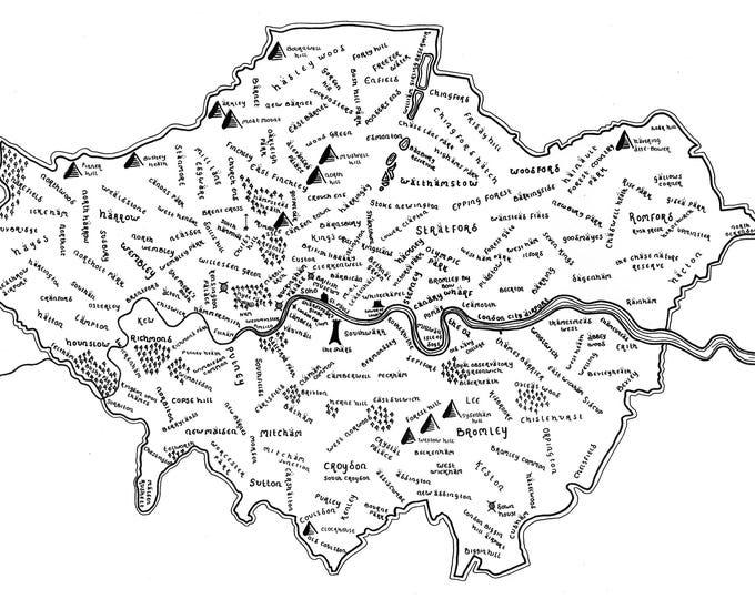 Greater London - Giclée Print
