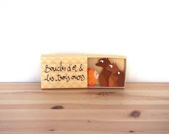 """Diorama Conte """"Boucles d'or et les trois ours - 1. Couverture"""""""