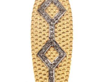 Pave Diamond Pendant, Diamond Pendant, 92.5 Silver Pendant