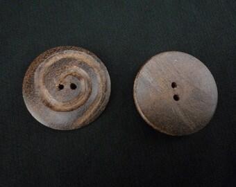 spiral design wood button