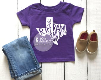 Toddler Texas Christian University Tee - Riff Ram Bah Zoo Tee - Purple TCU Tee - Purple Riff Ram Tee - TCU Football Tee
