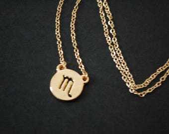 Gold plated scorpio astrology necklace