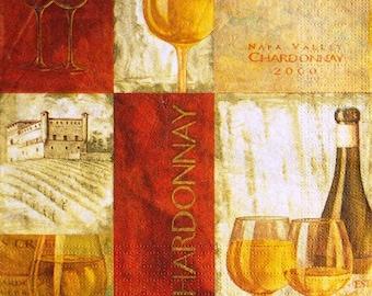 TOWEL in paper white Chardonnay wine #AL084