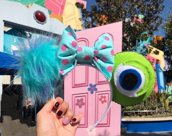 Monsters Inc Mike Wazowski and Sully Ears