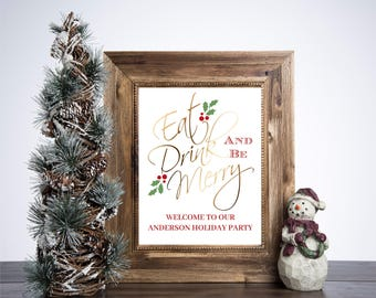 Christmas Print 8x10 Holiday Table Decor
