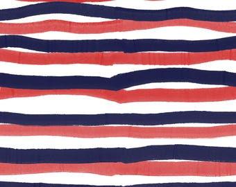 Red and Navy Stripe Crib Sheet - Fitted Crib Sheet - Standard Crib Sheet - Toddler Sheet - Baby Sheet - Baby Bedding - Cot Sheet